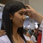 Girl anointed with Chrism